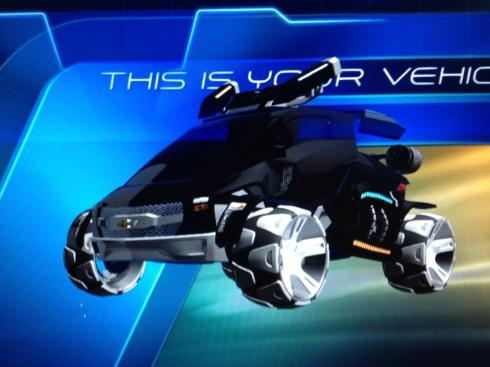 Here is an example of what you can design in the New Test Track. You have total control over what you want your car to look like, from the shape of the car, right down to the engine and paint scheme!