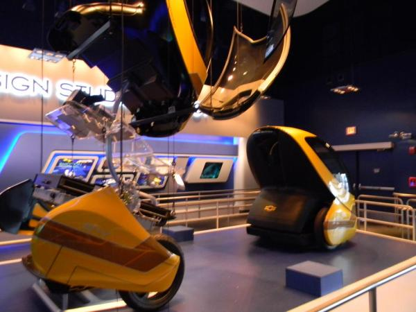 New Test Track - this exploded view of a Chevy concept car is located within the Standby queue.